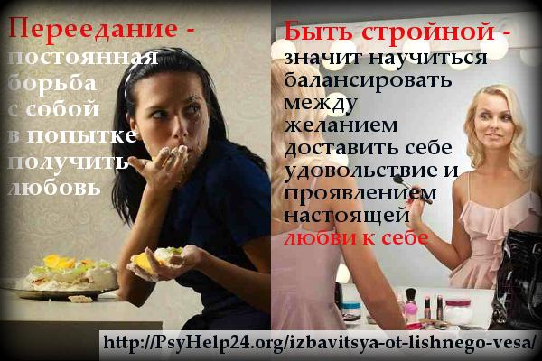 Как связано переедание с лишним весом