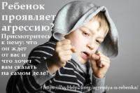 Агрессия у ребенка. Роль семьи в воспитании агрессивного ребенка